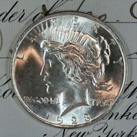 * 1923-D * CHOICE - GEM BU MS PEACE SILVER DOLLAR * FRESH FROM ORIGINAL ROLL *