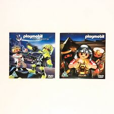 NEW Playmobil 2 x DVDs Top Agents & Egypt Short Films - Kids & Family Movies