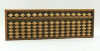 Vintage Japanese Soroban Abacus Wood 15 Columns 6 Beads per Column Marked
