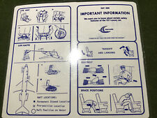safety card nomads travel club b727 100