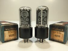 2 Vintage NOS 1950's Mullard Shield GZ30 5Z4GT CV2748 Amp Tube Pair Gt Britain