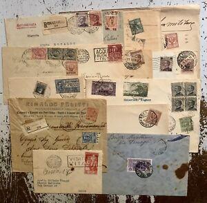 Regno 1900 Lotto Storia Postale 14 Lettere Diverse Qualita