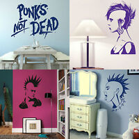 Punk Rock Wall Stickers Vinyl Transfer Graphic Decal Decor Stencils Interior Art