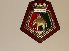 SHIPS CREST - HMS COVENTRY 8/half by 7 ins