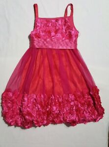 Beautiful Fuchsia pink Girls bonnie jean dress size 10 lined with silk material