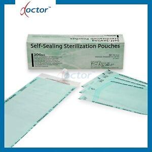 200 Buste per sterilizzazione autosaldanti autoclave 9x25 14x26 19x33 30x45 cm