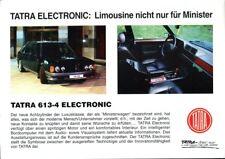 Tatra 613-4 Electronic German market sales brochure/leaflet