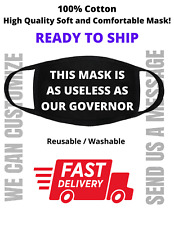 This mask is as useless as GOVERNOR - Black Reusable Unisex Soft 100% Cotton