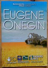 Eugene Onegin programme Blackheath Halls Community Opera 2011 Damian Thantrey