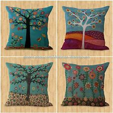 decorative pillow covers set of 4 cushion covers retro tree flower