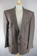 Clásico Austin Reed británicos hicieron De Lana Pura comprobado marrón tweed chaqueta 42 Pulgadas