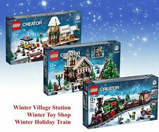 LEGO 10254 10259 10249 WINTER TRAIN, STATION & TOY SHOP CREATOR EXPERT GIFT 10%