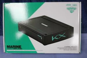 Kicker KXMA400.4 Marine Amplifier 4 Channel 400 Watts RMS Sealed Controls NIB
