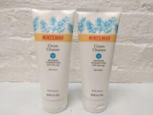 2 Burt's Bees Intense Hydration Cream Cleanser, Moisturizing Face Wash 6 Oz each