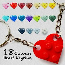 More details for lego heart keyring keychain|18 colours|gift for couples boyfriend girlfriend