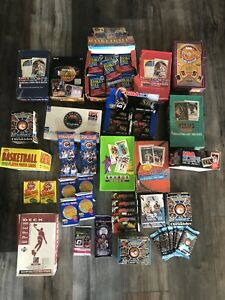 HUGE LOT OF UNOPENED Basketball WAX & FOIL PACKS 55+ CARDS NBA FREE SHIPPING!!!