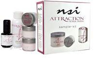 NSI Attraction Nail Acrylic System Sampler Kit.