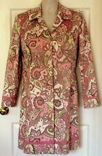 EASTER COAT Ladies DRESS coat SZ size 14 L LG pink print ivory green