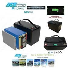 12V 80Ah Lithium LiFePO4 Akku  mit Kapazitäts - Display & 100A BMS