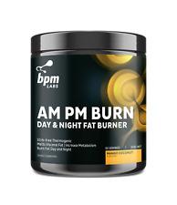 BPM Labs AM PM Burn - 60 Serves Mango Coconut - Day Night Fat Burner Stim-Free