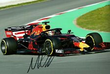 Max Verstappen 2019 Grand Prix signed photo F1 Aston Martin Red Bull RB15