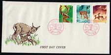 China 1980 Deer set (T52) on fine First Day Cover