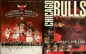 2000/2001 and 2007/2008 Chicago Bulls Official yearbooks