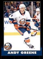 2020-21 UD O-Pee-Chee Retro Black Border 145 Andy Greene /100 New York Islanders