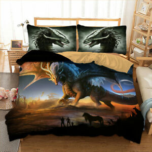 Dragon Duvet Quilt Cover Set Bedding Set Pillowcases Single Double King HD Print