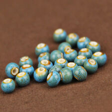 50/100/200Pcs Lots 6MM Ceramic Loose Beads DIY Necklace Bracelet Jewelry Making