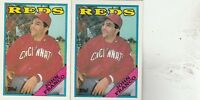 FREE SHIPPING-MINT-1988 Cincinnati Reds Topps  #730 John Franco-2 CARDS
