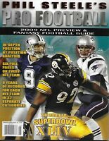 Phil Steele Pro Football Magazine NFL Teams Records Road To Superbowl 2009 Issue