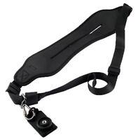 Quick Wide Neck Shoulder Strap for DSLR Cameras in Black for Canon Nikon Sony