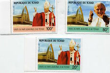 Timbres Tchad Pape Jean-Paul II