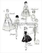 Day Ensemble Pattern Set For Vintage Barbie (Pattern Set A)
