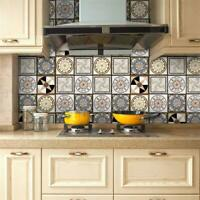 Wall Tiles Stickers Kitchen Waist Line Floor Tile Decals Waterproof #1