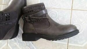 Bottines boots T39 marron tbe