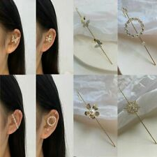 New Fashion 1PC Crystal Pearl Ear Cuff Stud Women's Cartilage Helix Earrings HOT
