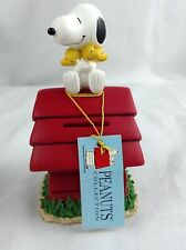 New ListingPeanuts snoopy woodstock on dog house ceramic bank New tags