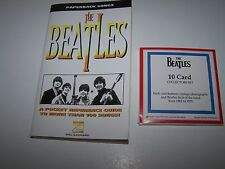 PAPERBACK SONGS THE BEATLES  REFERENCE GUIDE & THE BEATLES 10 CARD COLLECTOR SET