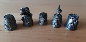 Pewter & Metal Thimbles Collection Job Lot
