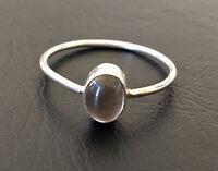 Sterling Silver Smokey Quartz Ring Stack Stackable Gemstone Sz 5 6 7 8 9 10 11