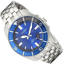 Men's Pulsar 100m Blue Face Watch Stainless Steel Quartz Analog Gifts For Him