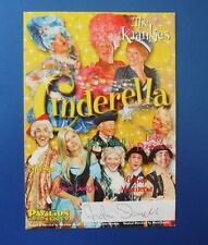 THEATRE FLYER CINDERELLA SIGNED BY JACKIE FARRELL