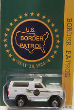 Hot Wheels CUSTOM '85 FORD BRONCO  U.S. Border Patrol Real Riders LTD 1/50 Made!