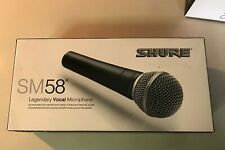 Shure SM58 Cardioid Dynamic-Wired-Vocal Microphone-Black-Open Box-Brand New