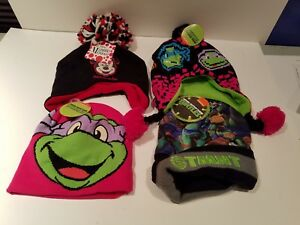 Toddler Winter Hat Sets,Teenage Mutant Ninja Turtles, Disney, Kid size 4-16