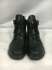 FOOTPRINTS by Birkenstock Women's Black Leather Lace Up Work Oxford Boot 38 US 7