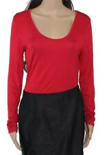 Double Zero Women's Top Lipstick Red Size Large L Knit Scoop Neck Bodysuit #84`
