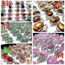 Wholesale 15Pcs Nature Stone Cute Alloy  Fashion Style Rings jewelry ring Bulk